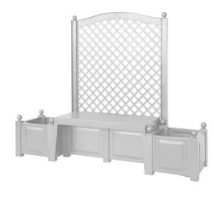 Садовая скамейка KHW Snow Копенгаген 43501 белый