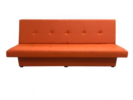Диван, Мягкий офис, Марсель двухместный Экокожа Pegaso, оранжевый