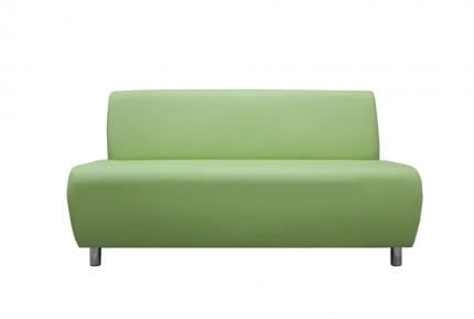Модульная секция, Мягкий офис, Классик двухместная Экокожа Pegaso, светло-зеленый