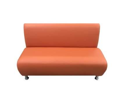 Модульная секция, Мягкий офис, Классик двухместная Экокожа Pegaso, оранжевый