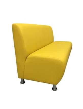 Модульная секция, Мягкий офис, Классик двухместная Экокожа Pegaso, желтый