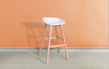 Барный стул iModern Porto, бежевый/белый