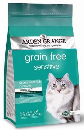 Сухой корм для кошек Arden Grange Sensitive, океаническая белая рыба и картофель, 2кг