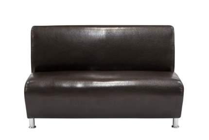 Модульная секция, Мягкий офис, Классик двухместная Экокожа Oslo, темно-коричневый