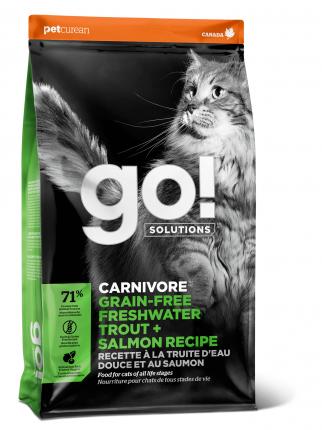 Сухой корм для кошек и котят GO! SENSITIVITY + SHINE, рыба, 1,82кг