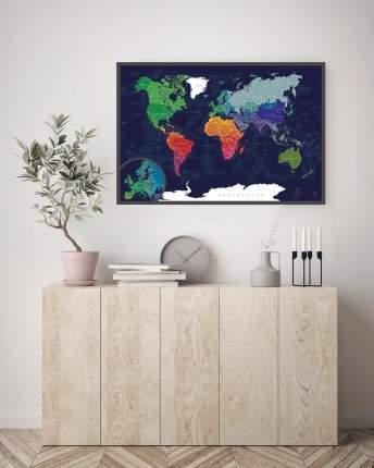 Скретч-карта мира AFI Design Blue A1