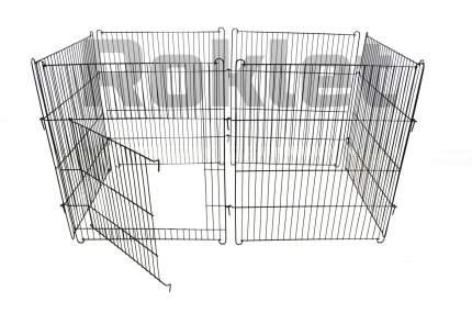 Вольер для собак, щенков ROKLET 70, складной, с дверью, черный, 6 секций по 60х70 см