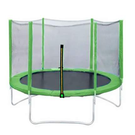 Батут DFC Trampoline Fitness с сеткой 244 см, зеленый