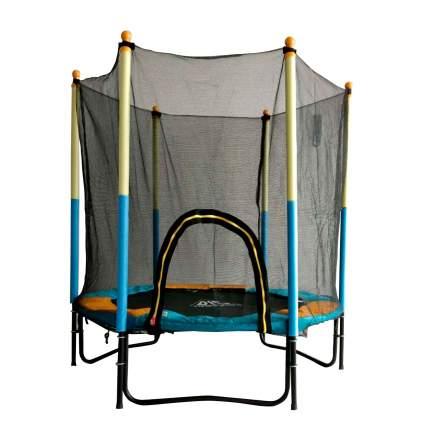 Батут DFC Jump Kids с сеткой 150 см, желтый/синий