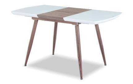 Стол раскладной Fredric 100-140, белый/дуб