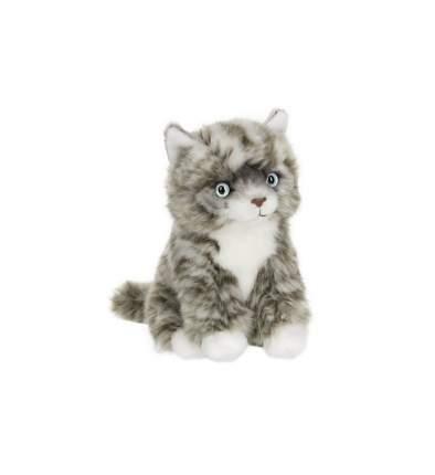 Мягкая игрушка Anna Club Plush Котёнок Табби короткошерстный серебряный, сидит 15 см