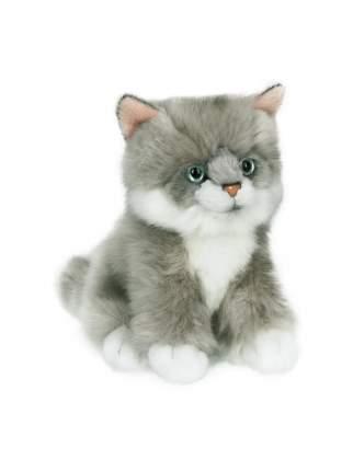 Мягкая игрушка Anna Club Plush Котёнок сибирский серый, сидит 15 см