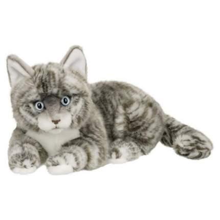 Мягкая игрушка Anna Club Plush Кот Табби короткошерстный серебряный, лежит 25 см