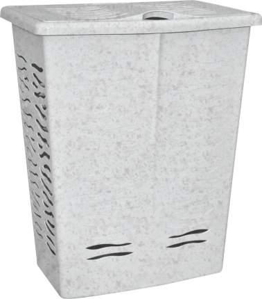 Корзина для белья BranQ Aqua 42 л 398х299х537 мм мраморная