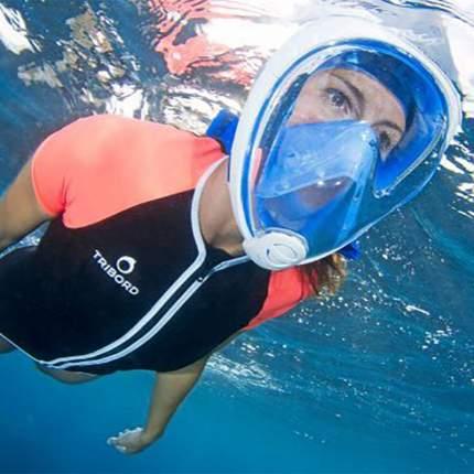 Маска для плавания FreeBreath L/XL pink