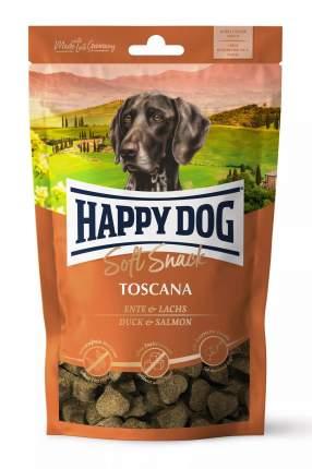 Лакомство для собак Happy Dog Toscana, сердечки, утка, лосось, 100г, 10 шт
