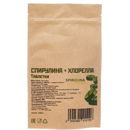 Спирулина + Хлорелла таблетки 250 гр.