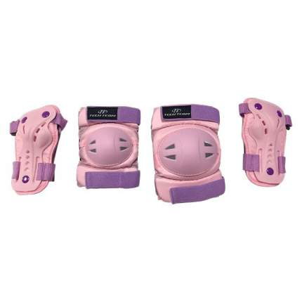 Детская защита для катания Тech Team SAFETY LINE 500 розовая размер S