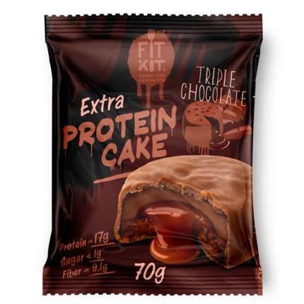 Печенье Fit Kit Extra Protein Cake 24 70 г, 24 шт., triple chocolate