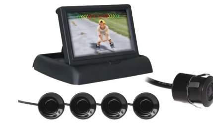 Парктроник PS-842U (4 датчика+коннекторы, ЖК-Дисплей, камера заднего вида) AVS арт. A78018