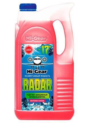 Hg5689n_жидкость Cтеклоомывающая! Hi-Gear Radar -17°c, 4л Hi-Gear арт. HG5689N