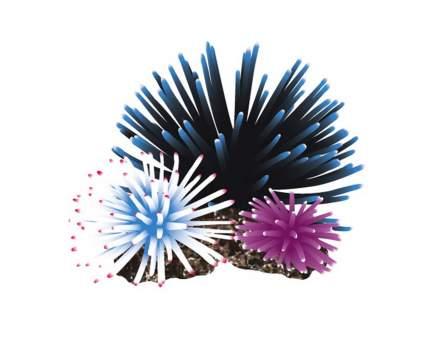 Искусственный коралл Fauna International Кораллы на рифе, черный/белый/фиолет 10,5х9,5х8см
