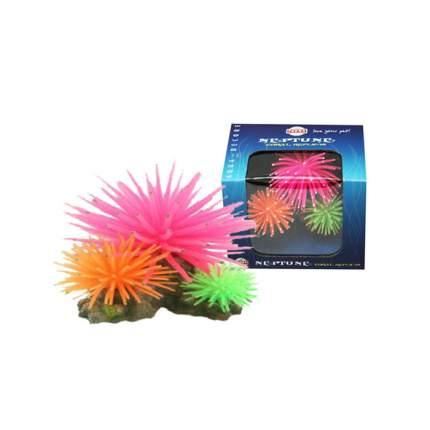 Искусственный коралл Fauna International Кораллы на рифе зеленый/синий/черный 10,5х9,5х8см