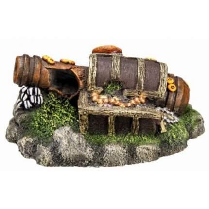 Декорация для аквариума Nobby Пушка и сундук, пластик, 13х10,5х5,5 см