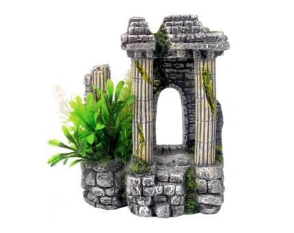 Грот для аквариума Fauna International Арка с колоннами, пластик, 11х7,5х13,2 см
