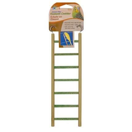 Лестница для птиц Penn-Plax Small Step Wood and Cement, 7 перекладин, 8х32 см