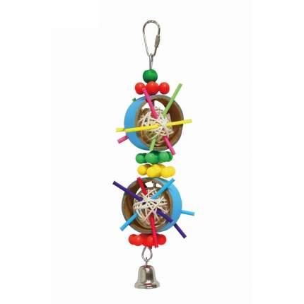 Игрушка для птиц Fauna International кольца с плетеными мячами с колокольчиком, 27 см