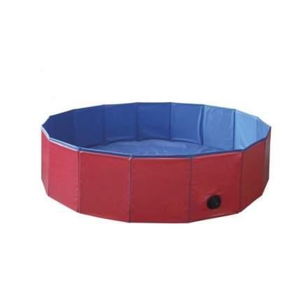 Бассейн для собак Nobby Cooling-Pool, красно-синий, 80 х 80 х 20 см