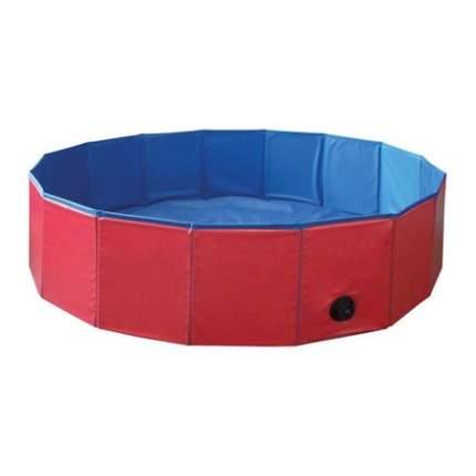 Бассейн для собак Nobby Cooling-Pool, красно-синий, 120 х 120 х 30 см