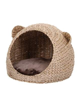 Домик для кошек и собак Nobby Takla, из морских водорослей, светло-коричневый, 40х40х33см