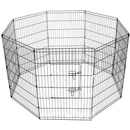 Вольер для щенков Savic Dog Park 1 , 8 секций, серая эмаль, диаметр 160 см, высота 61 см