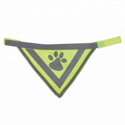 Бандана для собак Nobby Safety Bandana, светоотражающая желтая, 45х23см ширина ремешка 2см