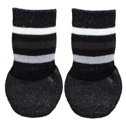 Носки для собак TRIXIE, нескользящие, хлопок/лайкра, черные, L (Золотистый ретривер), 2 шт