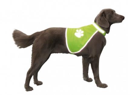 Жилет для собак Nobby Safety Vest, светоотражающий, желтый, M, шея 42-50см, грудь 50-68см