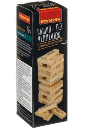 Деревянная развивающая игра-балансир Bondibon Башня-челлендж