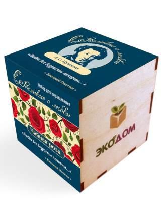 """Подарочный набор для выращивания в кубике (8х8 см) Великие о любви """"Роза"""" (Пушкин А.С.)"""