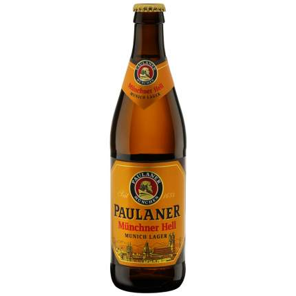 Пиво Пауланер Мюнхен. свет.4,9%ст/б 0,5л
