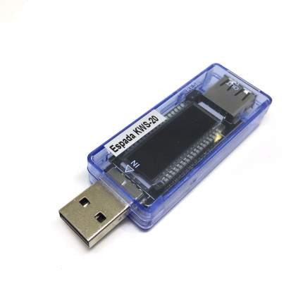 Цифровой тестер USB-порта/ V, A, mAh, T-время / Espada KWS-V20