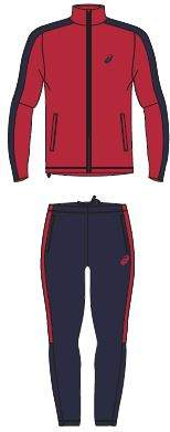 Комплект спортивной формы Asics LINED SUIT, red, L INT