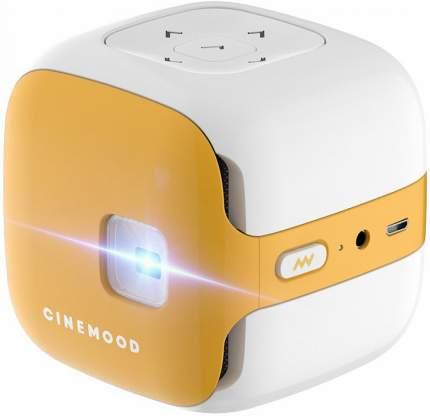 Портативный проектор Cinemood ДиаКубик (CNMD0016LE 3M) 3 месяца подписки (White/Yellow)