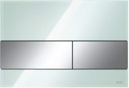 Панель смыва TECESquare, cтекло зеленое, клавиши хром глянцевый