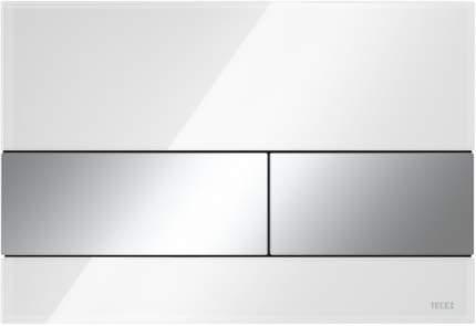 Панель смыва TECESquare, cтекло белое, клавиши хром глянцевый