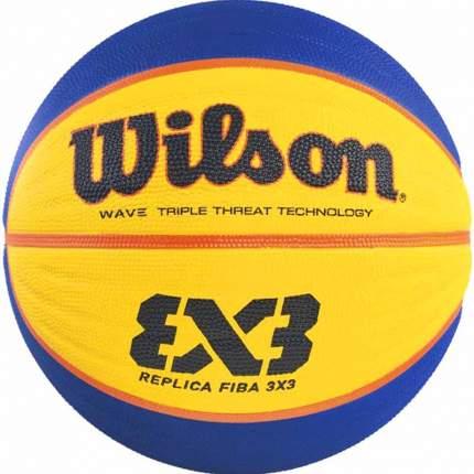 Баскетбольный мяч Wilson Fiba 3x3 Replica №6 blue/yellow