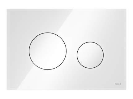 Панель смыва TECEloop стекло белое, клавиши белые