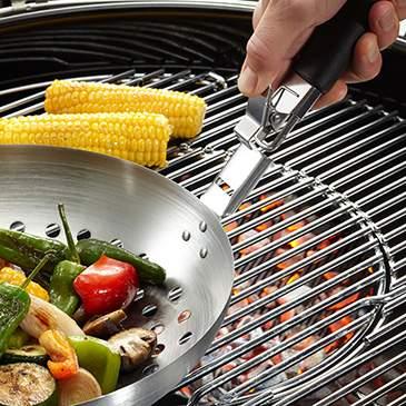 Вок для овощей со съемной ручкой, Ø28 см BBQ, Gefu