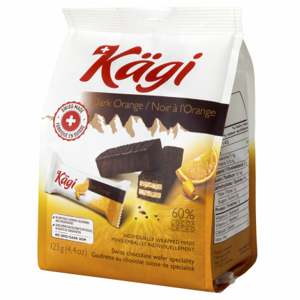 Вафли Kagi Dark Orange mini с апельсиновым кремом в темном шоколаде 125 г